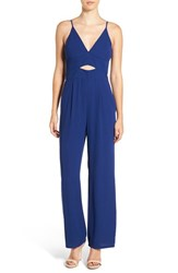 Leith Women's Front Cutout V Neck Jumpsuit