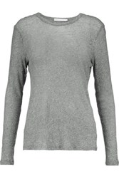 Kain Label Edith Stretch Knit Top Gray