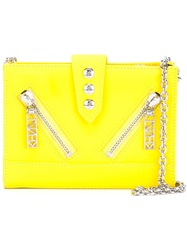 Kenzo 'Kalifornia' Chain Wallet Yellow And Orange