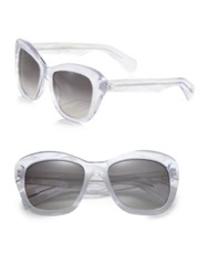 Oliver Peoples Emmy 55Mm Retro Sunglasses White Brown