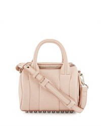 Alexander Wang Rockie Mini Pebbled Satchel Bag Pink