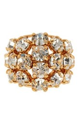 Trina Turk Multi Stone Cocktail Ring Metallic
