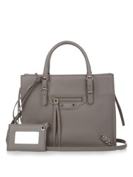 Balenciaga Papier A4 Mini Leather Cross Body Bag Grey