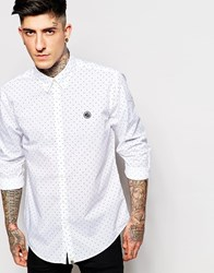 Pretty Green Shirt With Polka Dot Print White