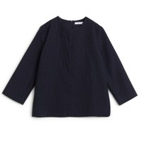 Norse Projects Janna Cotton Dot Navy