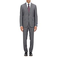 Barneys New York Men's Two Button Suit Grey
