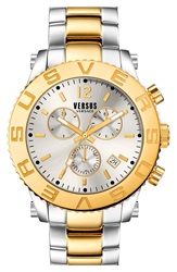 Versus By Versace 'Madison' Chronograph Bracelet Watch 42Mm Silver Gold