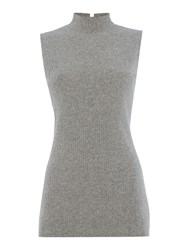 Episode Sleeveless Woven Top Heather
