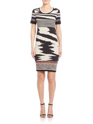 Missoni Short Sleeve Signature Knit Dress Black White