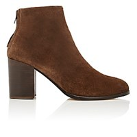 Helmut Lang Women's Back Zip Ankle Boots Brown