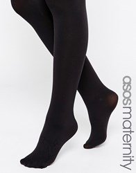 Asos Maternity 200 Denier Tights With Supportive Band Black