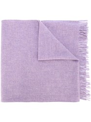 Our Legacy Frayed Edge Scarf Pink Purple