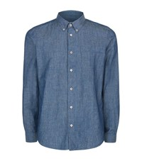 Paul Smith Ps By Tailored Chambray Shirt Male Blue