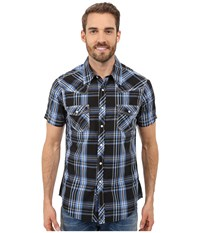 Rock And Roll Cowboy Short Sleeve Snap B1s7261 Blue Men's Short Sleeve Button Up