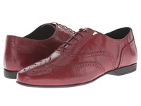 Versace Lace Up Dress Shoe W Stitch Detail Bordeaux Men's Lace Up Casual Shoes Burgundy