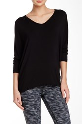 Hard Tail Siro Slouchy V Neck Tee Black