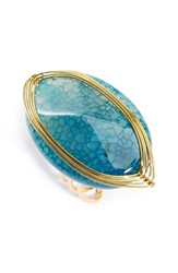 Women's Panacea Adjustable Lapis Wire Wrapped Ring Green