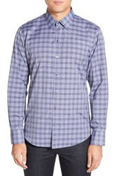 Zachary Prell Men's 'Andy' Trim Fit Plaid Sport Shirt