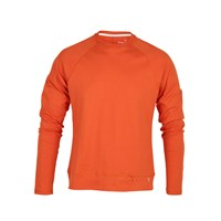 Xavier Athletica Luxury Cotton Mens Long Sleeve T Shirt Orange Yellow Orange