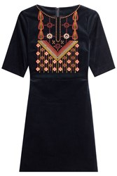 Mih Jeans Embroidered Cotton Dress Multicolor