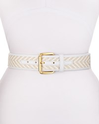 Vince Camuto Woven Straw 42Mm Belt Natural