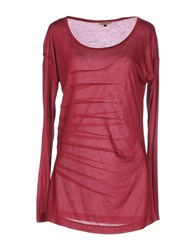 Richmond Denim Topwear T Shirts Women Garnet