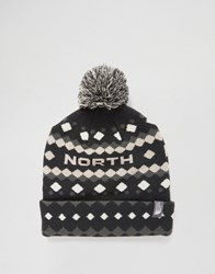 The North Face Antlers Bobble Beanie In Grey Grey