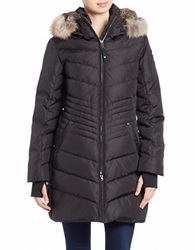 Pajar Coyote Fur Trimmed Quilted Coat Black
