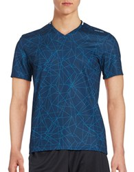 Calvin Klein Geo Print Athletic Top Atlantis