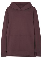 John Elliott Hooded Villain Zipped Cotton Sweatshirt Maroon