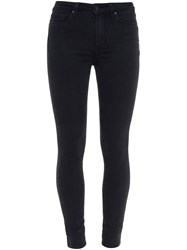 Paige Hoxton Mid Rise Skinny Jeans Black