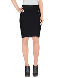 High Tech Knee Length Skirts Black