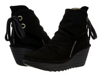 Fly London Yama Black Oil Suede Women's Shoes