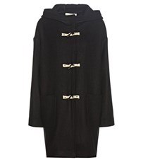 Vanessa Bruno Wool Blend Duffel Coat Black