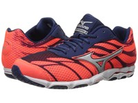 Mizuno Wave Hitogami 3 Fiery Coral Blue Depths White Women's Running Shoes Orange