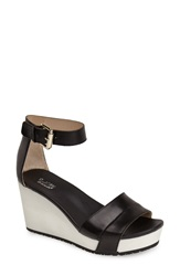 Dr. Scholls Original Collection 'Warner' Wedge Sandal Women Black Leather