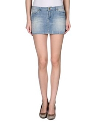 Amy Gee Denim Skirts Blue
