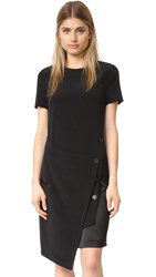Dkny Dress With Front Wrap Black Scarlet