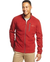 Greg Norman For Tasso Elba Big And Tall 5 Iron Performance Full Zip Golf Fleece Jacket Only At Macy's Carmine Red