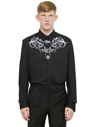 Givenchy Tattoo Printed Light Cotton Twill Shirt