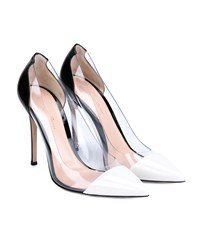 Gianvito Rossi Plexi Pumps Black White Transparent