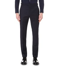Reiss Marvel Slim Fit Tapered Wool Trousers Navy