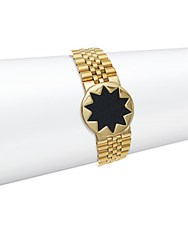 House Of Harlow Stainless Steel Star Dial Bracelet Black