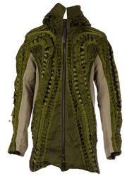 Christopher Raeburn Military Hooded Long Jacket Green