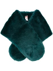 Shrimps Faux Fur Stole Green