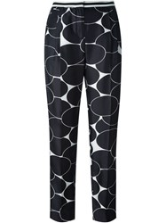 Moncler Circle Print Cropped Trousers Black