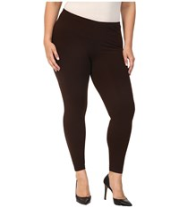 Hue Plus Size Cotton Legging Espresso Women's Casual Pants Brown