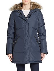 Pajar Canada Catherine Fur Trimmed Parka Navy