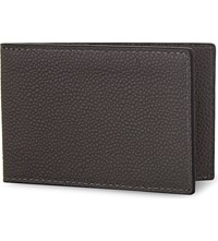 Reiss Leon Leather City Wallet Slate