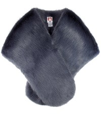 Shrimps Ange Faux Fur Shawl Grey